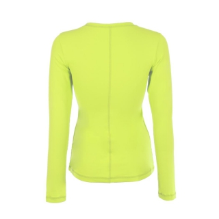 Sophibella Women's Long Sleeve Tennis Top (Electric Yellow)