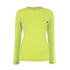 Sofibella Women's Long Sleeve Tennis Top (Electric Yellow) - Sofibella Women's Team Tennis Apparel