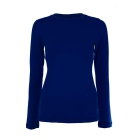 Sofibella Women's Long Sleeve Tennis Top (Navy) - Sofibella Women's Team Tennis Apparel