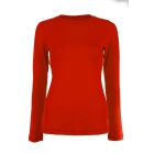 Sofibella Women's Long Sleeve Tennis Top (Red) - Sofibella Women's Team Tennis Apparel