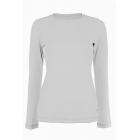 Sofibella Women's Long Sleeve Tennis Top (White) - Sofibella Women's Team Tennis Apparel