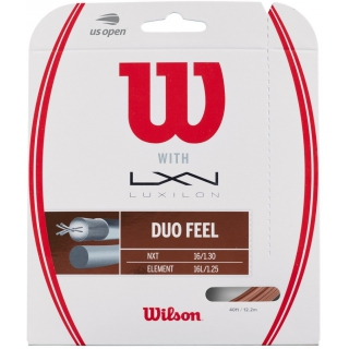 Wilson Duo Feel Hybrid NXT & Luxilon Element 16g Tennis String Set