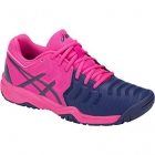 Asics Junior Gel Resolution 7 GS Tennis Shoes (Pink/Blue) - Asics Gel-Resolution Tennis Shoes
