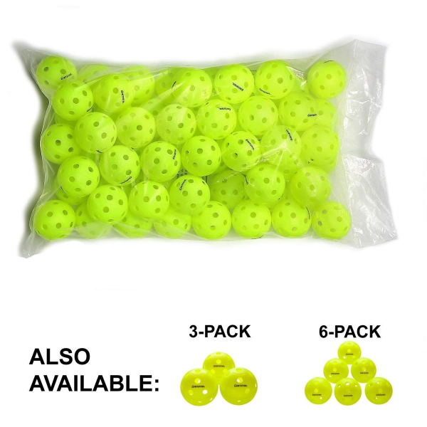 Gamma Photon High-Visbility Pickleballs, 60-Pack (Indoor)