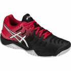 Asics Men's Gel Resolution 7 Tennis Shoes (Black/Red) - Asics Gel-Resolution Tennis Shoes