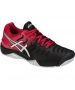 Asics Men's Gel Resolution 7 Tennis Shoes (Black/Red) - New Tennis Shoes