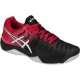 Asics Men's Gel Resolution 7 Tennis Shoes (Black/Red) - Asics