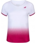 Babolat Girls Compete Cap Sleeve Tennis Top with Performance Polyester (White/Vivacious Red) - Girl's Tops