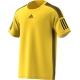 Adidas Men's Barricade Tennis Tee Shirt (Yellow/Black) - Adidas Tennis Apparel