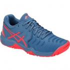 Asics Junior Gel Resolution 7 GS Tennis Shoes (Blue/Red) - Asics Gel-Resolution Tennis Shoes