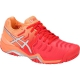 Asics Women's Gel Resolution 7 Tennis Shoes (Red/Silver) - Asics