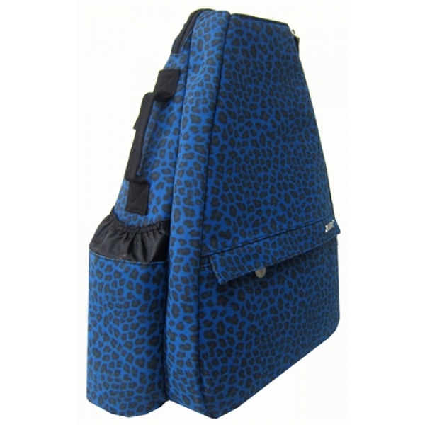Jet Blue Suede Cheetah Small Sling