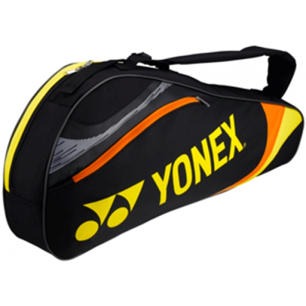 Yonex Tournament Basic 3-Pack Racquet Bag (Black/Yellow)