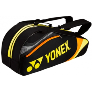 Yonex Tournament Basic 6-Pack Racquet Bag (Black/Yellow)
