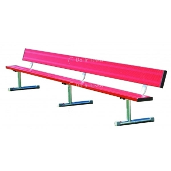 7.5' Permanent Bench w/back (Assorted Colors), #BEPB08C
