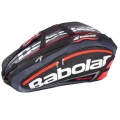 Babolat Team Racquet Holder x12 (Black/ Bright Red)