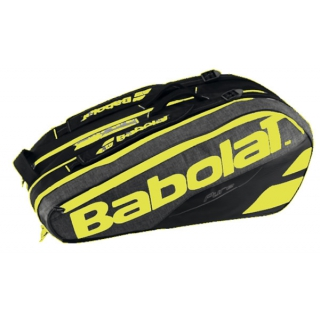 Babolat Pure Racquet Holder 12-Pack (Black/Fluoro Yellow)