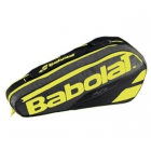 Babolat Pure Racquet Holder 6-Pack (Black/Fluoro Yellow) - Babolat Pure Tennis Bags