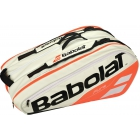 Babolat Pure Racquet Holder 12-Pack (White/Red) - Babolat Pure Tennis Bags