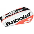 Babolat Pure Racquet Holder 6-Pack (White/Red) - Babolat Pure Tennis Bags