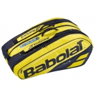 Babolat Pure Aero Racquet Holder x12 (Yellow/Black) - Babolat Tennis Bags