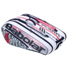 Babolat Pure Strike 3rd Gen RH x12 Tennis Bag (White/Red) - Babolat Pure Tennis Bags