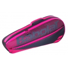 Babolat Club Essential Racket Holder X 3 (Black/Pink) -