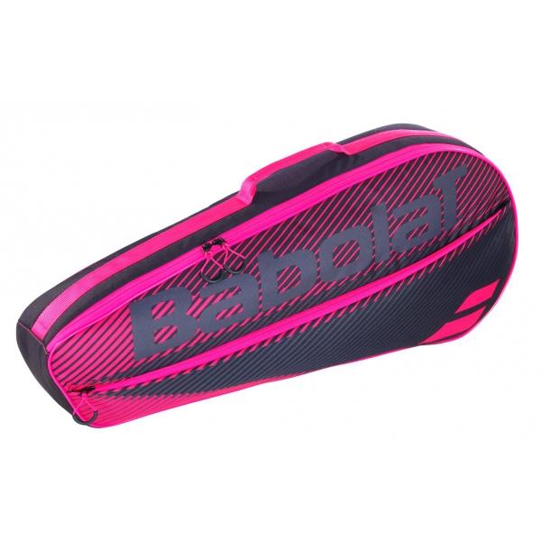 Babolat Club Essential Racket Holder X 3 (Black/Pink)