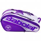 Babolat Pure RH X12 Wimbledon Tennis Bag (White/Purple) -