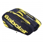 Babolat Pure Aero Racquet Holder x12 (Yellow/Black) - Enjoy Free FedEx 2-Day Shipping on Select Tennis Bags