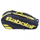 Babolat Pure Aero Racquet Holder x6 (Yellow/Black) - New Tennis Bags