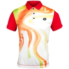 Lotto Men's Flame Polo (White/ Flame) - Lotto Tennis Apparel