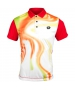 Lotto Men's Flame Polo (White/ Flame) - Lotto Men's Apparel Tennis Apparel