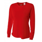 A4 Women's Performance Long Sleeve Crew (Scarlet) - A4 Apparel