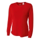 A4 Women's Performance Long Sleeve Crew (Scarlet) - A4 Women's Long-Sleeve Shirts