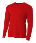 A4 Men's Performance Long Sleeve Crew (Scarlet) - A4