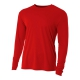 A4 Men's Performance Long Sleeve Crew (Scarlet) - A4 Men's Long-Sleeve Shirts