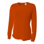 A4 Women's Performance Long Sleeve Crew (Orange) - A4 Apparel
