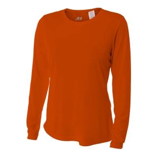 A4 Women's Performance Long Sleeve Crew (Orange)