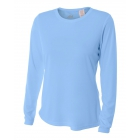 A4 Women's Performance Long Sleeve Crew (Light Blue) -
