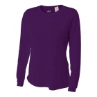 A4 Women's Performance Long Sleeve Crew (Purple) -