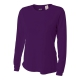 A4 Women's Performance Long Sleeve Crew (Purple) - A4