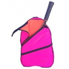 Maggie Mather Tennis Backpack (Pink Lightning/Orange Crush) - Women's Tennis Slings