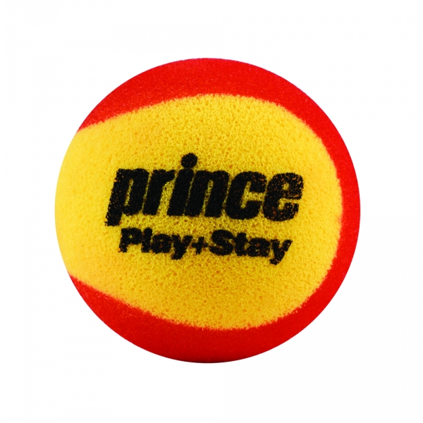 Prince Play+Stay Stage 3 Balls (75% Reduced Speed Foam) 3 Pk