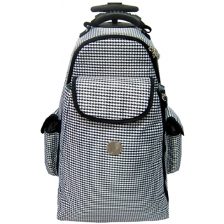 Jet Hounds Tooth Tennis Trolley Bag