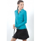 Bloq-UV Women's Long Sleeve Collared Shirt (Teal) - Bloq-UV Tennis Apparel