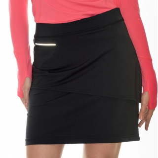 BloqUV Womens Golf Skirt with Built in Compression Shorts (Black)