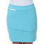 BloqUV Women's Golf Skirt with Built in Compression Shorts (Light Turquoise) - Bloq-UV