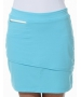 BloqUV Women's Golf Skirt with Built in Compression Shorts (Light Turquoise) - Shop the Best Selection of Tennis Apparel