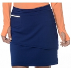BloqUV Women's Golf Skirt with Built in Compression Shorts (Navy) - Bloq-UV